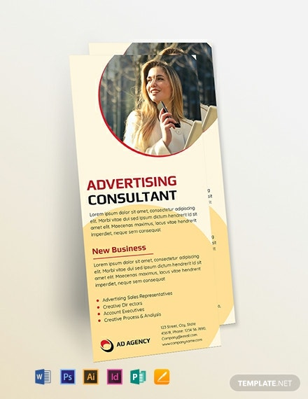Advertising Consultant Rack Card Template
