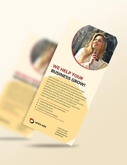 Advertising agency Rack card Download
