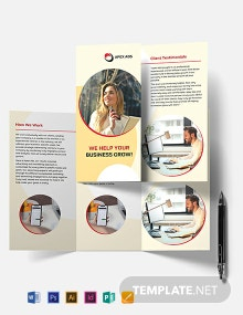 Advertising Consultant Tri-Fold Brochure Template