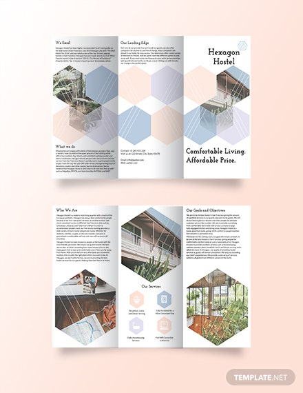 Hostel Tri Fold Brochure Template