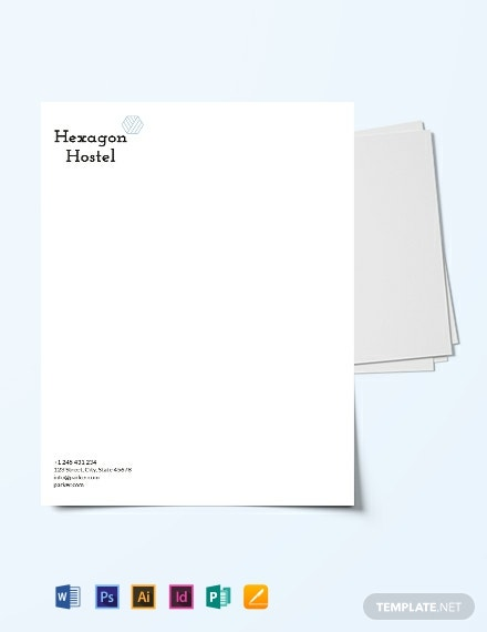 Download Hostel Letter Head Template