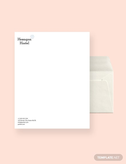 Hostel Envelope Template