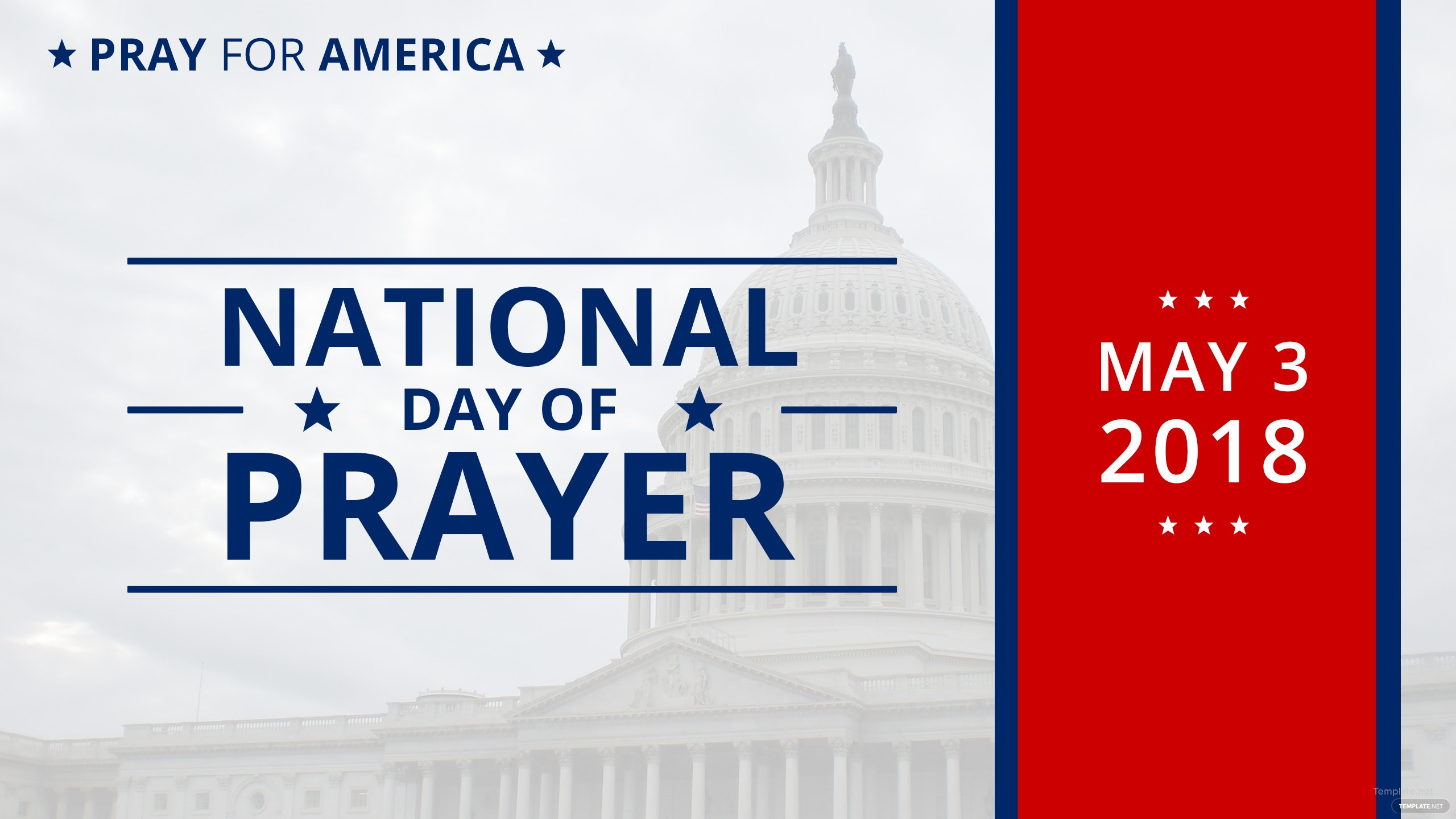 Free National Day of Prayer YouTube Channel Cover Template in Adobe ...