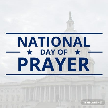 Free National Day of Prayer YouTube Profile Photo Template