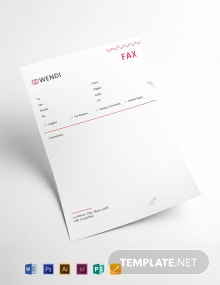 Wedding Planners Fax Paper Template