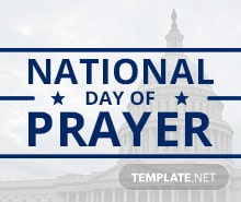 Free National Day of Prayer YouTube Video Thumbnail Template