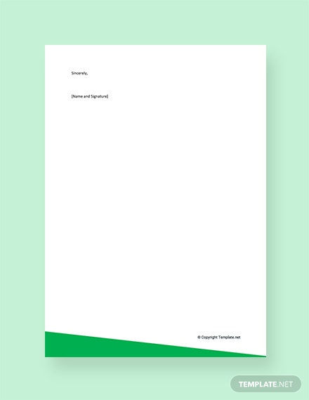 Summer Internship Reference Letter Template