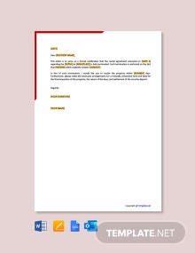 Free Rental Agreement Termination Letter From Landlord
