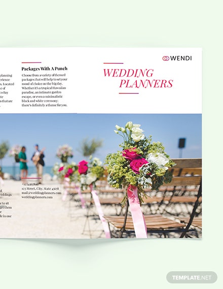 Sample Wedding Planners BiFold Brochure