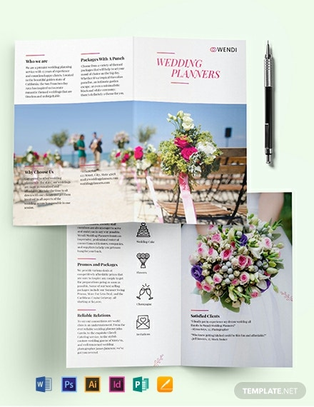 Wedding Planners BiFold Brochure Template