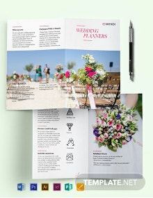 Wedding Planners Bi-Fold Brochure Template