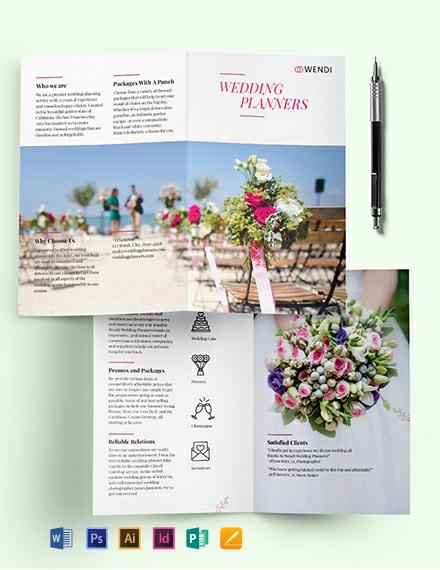 Wedding Planners Bi-Fold Brochure Template