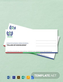 Free Education Envelope Template