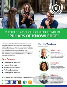FREE Modern Education Flyer Template