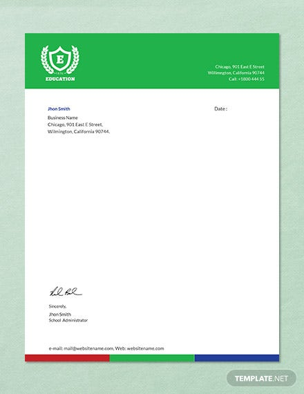 Education-Letterhead-Template Vintage Hospital Letterhead Templates on for word free, find free, cleaning company, graphic design, monogram personal,
