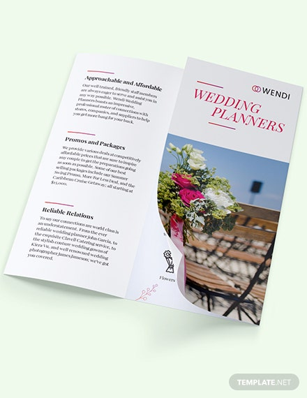 Sample Wedding Planners TriFold Brochure