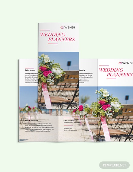 Wedding Planners TriFold Brochure Download