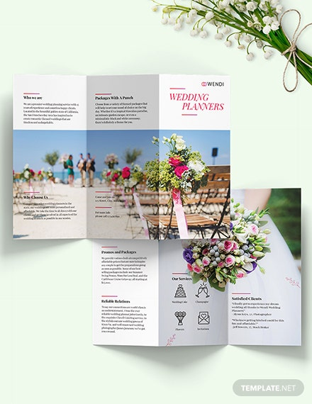 Wedding Planners Tri-Fold Brochure Template