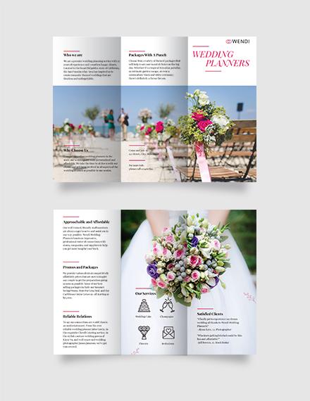 Wedding Planners Tri-Fold Brochure Template