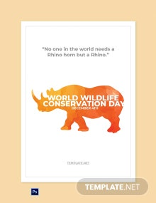 Free World Wildlife Conservation Day Greeting card