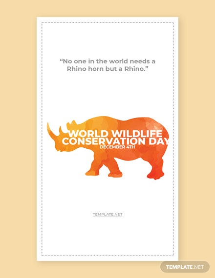 Free World Wildlife Conservation Day Whatsapp image