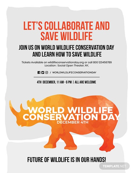 Free World Wildlife Conservation Day Poster