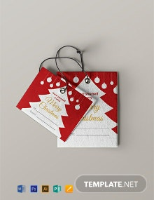 Free Christmas Gift Label Template