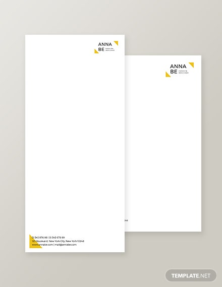 Fashion Designer Envelope Template