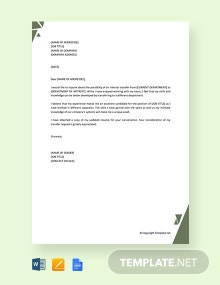 Free Internal Transfer Letter