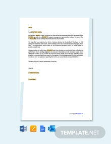 Free Rental Termination Letter From Landlord to Tenant