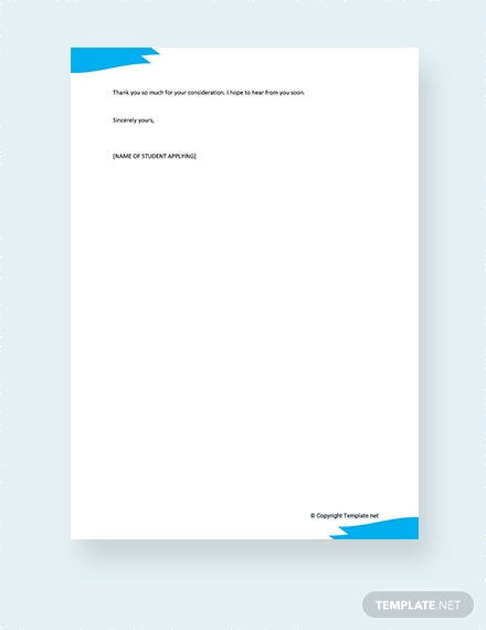 Free Letter Of Intent For School Enrollment Template Download 700