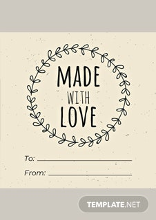 Free Food Gift Label Template