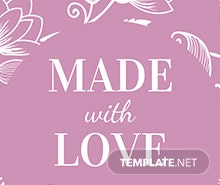 Free Floral Gift Label Template