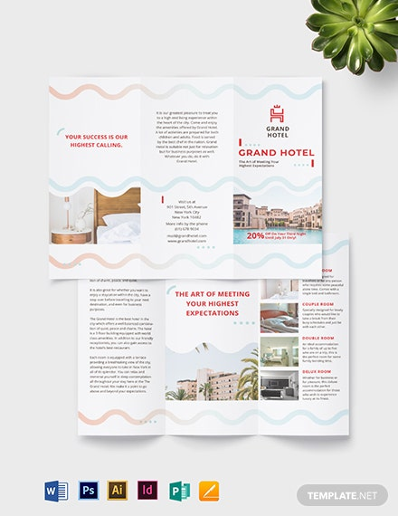 Grand Hotel TriFold Brochure Template