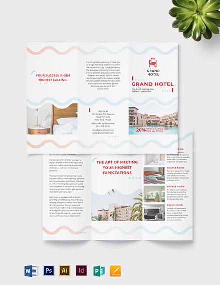 Grand Hotel Tri-Fold Brochure Template