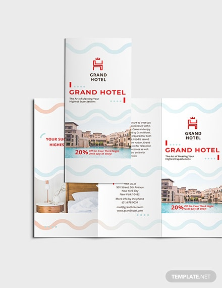 Sample Grand Hotel TriFold Brochure