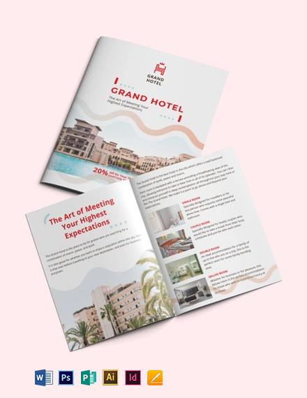 Grand Hotel Bi-Fold Brochure Template