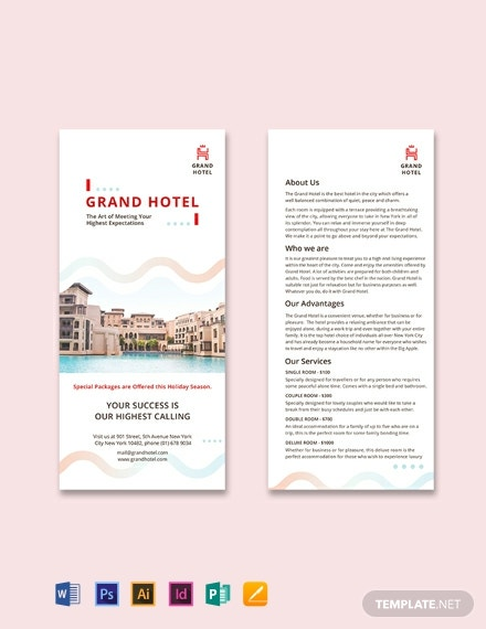 Grand Hotel DL Card Template