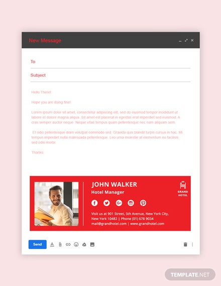 Grand Hotel Email Signature Template