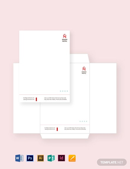 Grand Hotel Envelope Template