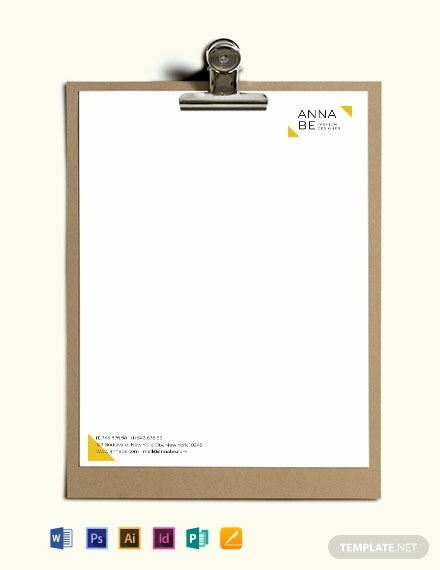 Fashion Designer Letterhead Template