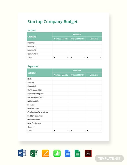FREE Simple Budget Template - Word | Excel | Google Docs