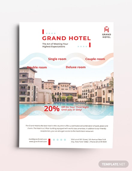 Grand Hotel Flyer Template