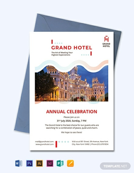 Grand Hotel Invitation Template