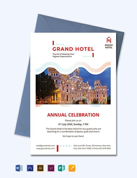 Grand Hotel Invitation Template