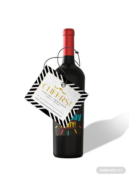 Free Gift Wine Label Template