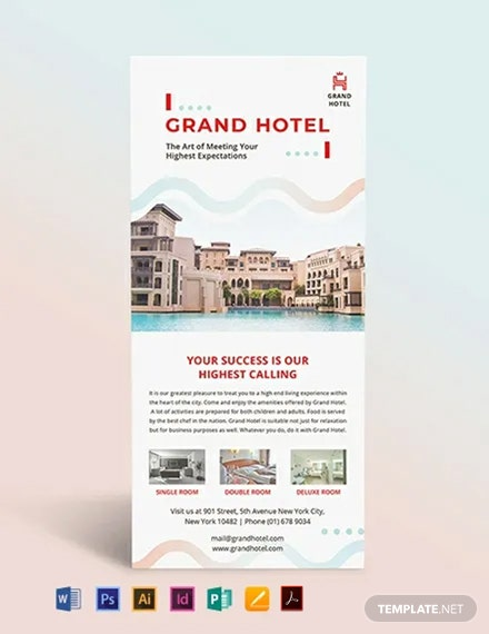 Grand Hotel Rack Card Template