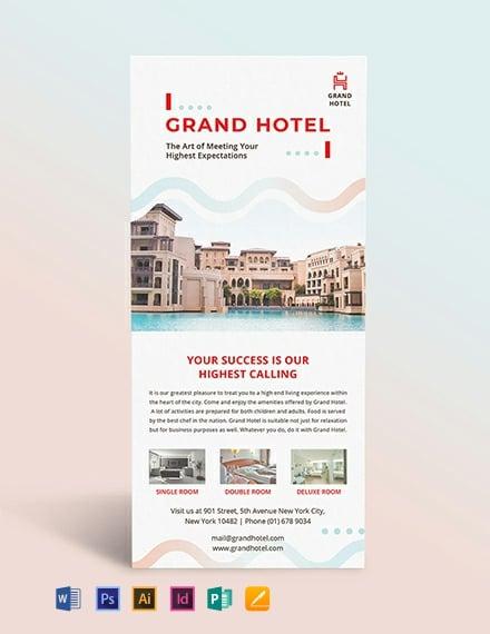 Grand Hotel Rack Card Template
