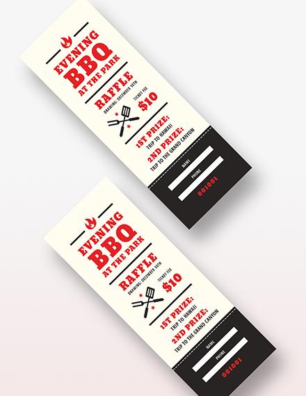 Sample Barbeque Raffle Ticket