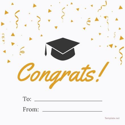 Free Graduation Gift label Template